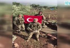 Afrinde görev yapan askerlerden öğrencilere duygusal video