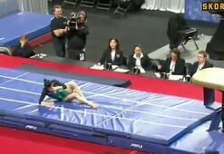 Çinli jimnastikçi ayağını böyle kırmıştı