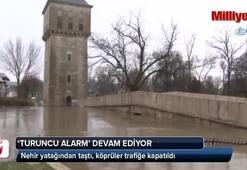 Tunca Nehri'nde 'turuncu' alarm devam ediyor