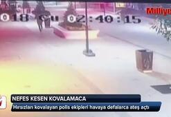 İstanbul'da nefes kesen hırsız polis kovalamacası kamerada