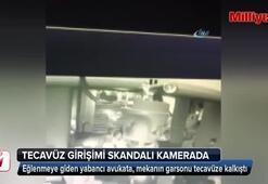 Tecavüz girişimi skandalı kamerada
