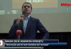 Avrupa Birliği Bakanı Çelik Adanada konuştu