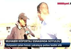 Röportaj yapan muhabiri soydu
