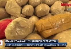 İstanbul'da 6 ayrı uyuşturucu operasyonu: 10 tutuklu