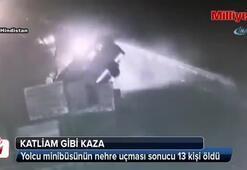 Yolcu minibüsü nehre uçtu: 13 ölü