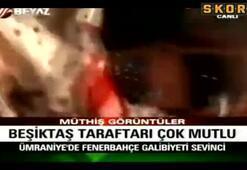 Beşiktaş takımına çılgın karşılama