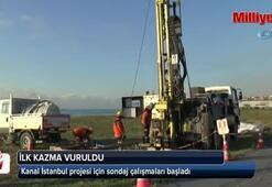 Kanal İstanbul projesi için sondaj çalışmaları başladı