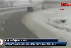 Ankarada kar yağışı başladı