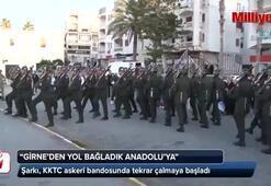 KKTC askeri bandosunda Girne'den Yol Bağladık Anadolu'ya yeniden çalmaya başladı