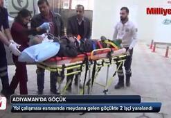 Yol çalışması esnasında meydana gelen göçükte 2 işçi yaralandı