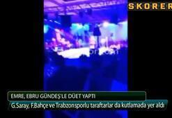 Emre,Ebru Gündeşle düet yaptı