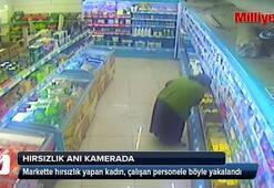 Hırsızlık olayı güvenlik kameralarına yansıdı