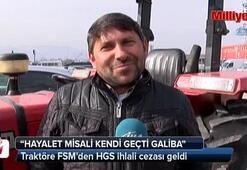 Traktöre FSMden HGS ihlali cezası geldi