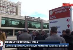 DÜ'de asistan doktora HİV bulaştığı iddiası