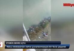 Yolcu otobüsü nehre uçtu