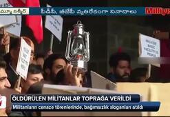 Öldürülen militanlar toprağa verildi