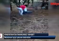 Müslüman işçiyi yakarak öldürdüler (+18)