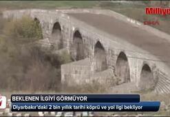 Diyarbakırdaki 2 bin yıllık köprü ve yol ilgi bekliyor