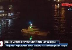 Haliç Metro Köprüsünde intihar girişimi