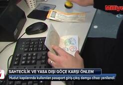 Hudut kapılarında kullanılan pasaport giriş-çıkış damga cihazı yenilendi