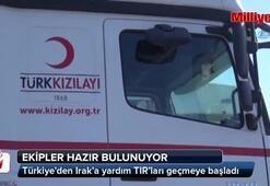 Türkiyeden Iraka yardım TIRları geçmeye başladı