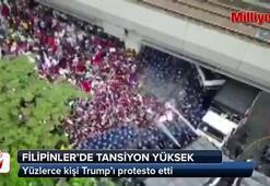 Filipinlerde yüzlerce kişi Trump'ı protesto etti