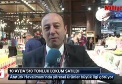 Atatürk Havalimanı'nda 10 ayda 510 tonluk lokum satıldı