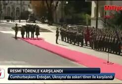 Cumhurbaşkanı Erdoğan, Ukraynada resmi törenle karşılandı