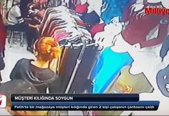 Fatihte müşteri kılığındaki hırsızlar kamerada