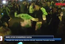 Emre Aydın konserinde kavga çıktı