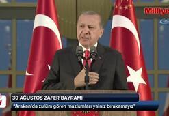 Cumhurbaşkanı Erdoğan:Arakanda zulüm gören mazlumları da yalnız bırakamayız