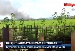 Arakanda müslümanlarının evleri ateşe verildi