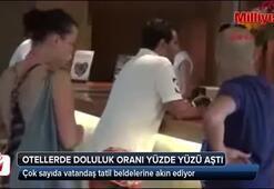 Antalyada otellerde doluluk oranı yüzde yüzü aştı