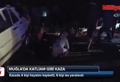 Muğla'da katliam gibi kaza: 4 ölü, 6 yaralı