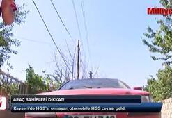 HGS'si olmayan otomobile HGS cezası geldi