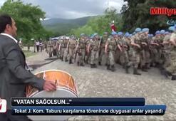 Tokat Jandarma Komando Taburunun karşılama töreninde duygusal anlar yaşandı