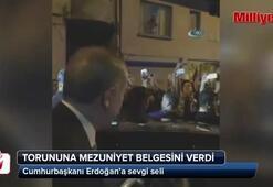 Erdoğan torununun mezuniyet heyecanını paylaştı