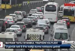 Bayram tatili İstanbul trafiğini kilitledi