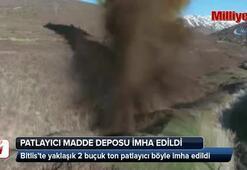 PKKya ait 2 ton patlayıcı imha edildi