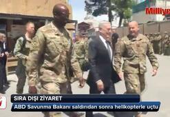 ABD Savunma Bakanı saldırıdan sonra helikopterle uçtu