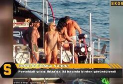Ronaldo olay yarattı İki kadınla birlikte...