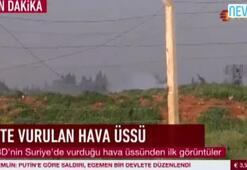 İşte vurulan Suriye hava üssü