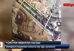 Yürüyen merdiven onlarca insanı yaraladı