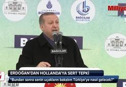 Erdoğandan Hollandaya sert tepki