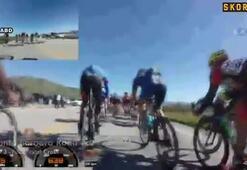 Bisiklet yarışında feci kaza
