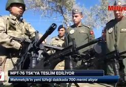 Milli tüfek TSKya teslim ediliyor