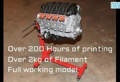 3D yazıcılarla Chevrolet motoru üretildi