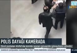 Sivil polisler AVMde kimlik soran güvenlik görevlisini dövdü