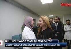 Hollywood yıldızı Lohan Suriyeli sığınmacıları ziyaret etti