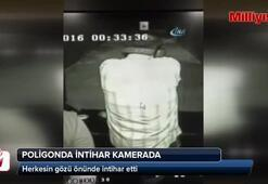 Poligonda intihar anı kamerada (+18)